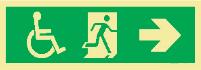 Sinalização de Rota de Fuga Cadeirante