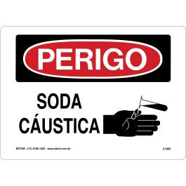 Placa De Perigo - Soda Cáustica