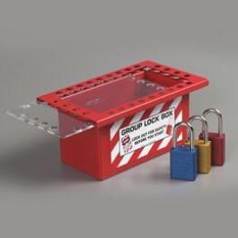 Caixa de Travamento em Grupo com Porta Deslizante