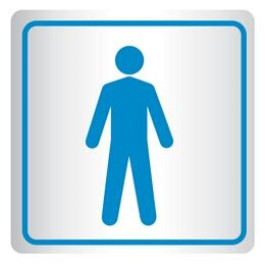 Placa De Banheiro - Pictograma Homem