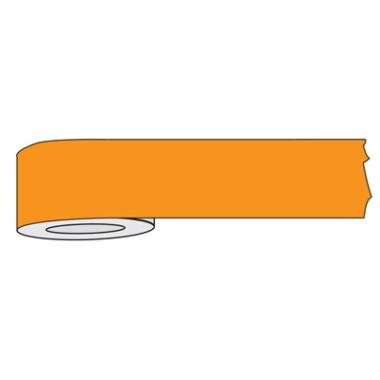 Fita Fluorescente para Isolamento de Área Laranja
