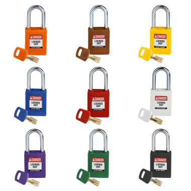 "Cadeados de Plástico Hastes de Aço | 38mm (1.5"") | Segredos Diferenciados | SafeKey"