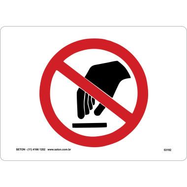 Placa de Sinalização | Símbolo Internacional | Não Toque