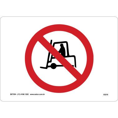 Placa de Sinalização | Símbolo Internacional | Proibido Tráfego de Veículos Industriais