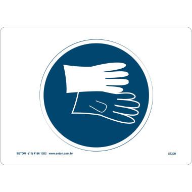 Placa de Sinalização | Símbolo Internacional | Proteção Para as Mãos