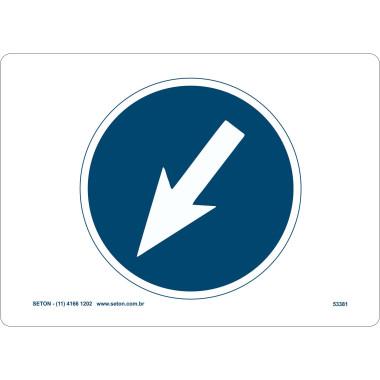 Placa de Sinalização   Símbolo Internacional   Seta