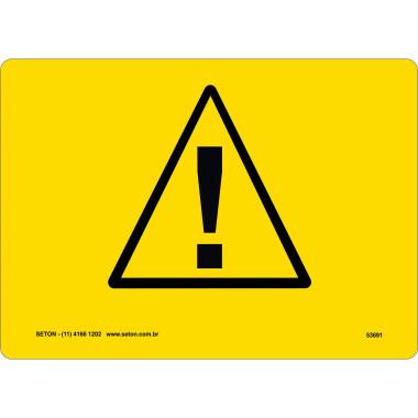Placa De Símbolo Internacional - Alerta De Segurança