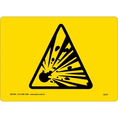 Placa De Símbolo Internacional - Explosão