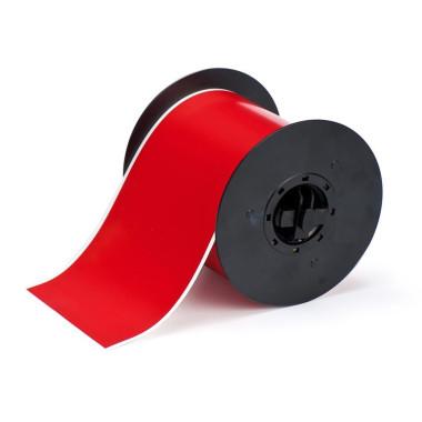 Etiqueta de Vinil Vermelha 101,6mmx30,48mm