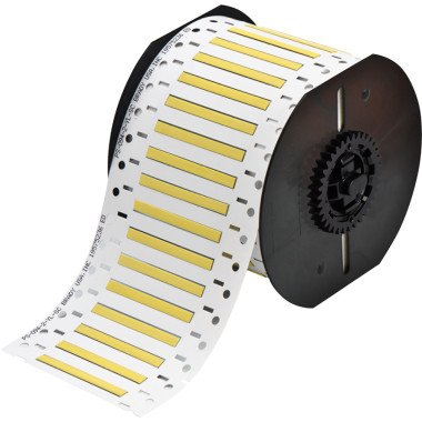 Luvas Termocontráteis PermaSleeve Amarelo Impressão em Ambos os Lados (4,62mm x 50,8mm)   BBP33 e i3300