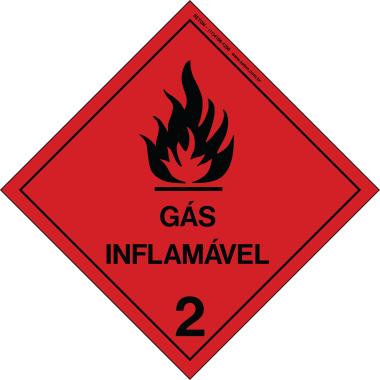Placa de Sinalização | Simbologia de Risco | Gás Inflamável 2