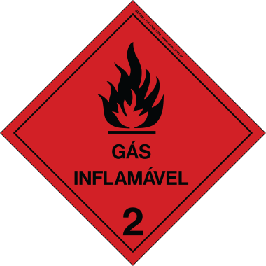 Placa Gás Inflamável 2