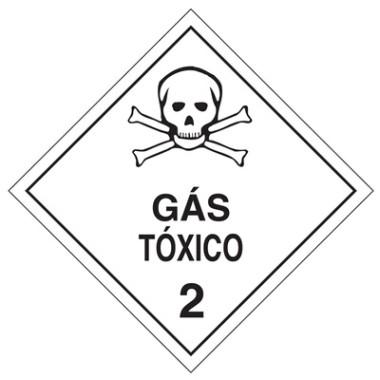 Placa De Simbologia De Risco - Gás Tóxico 2