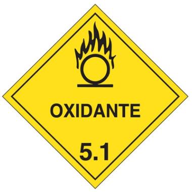 Placa De Simbologia De Risco - Oxidante 5.1