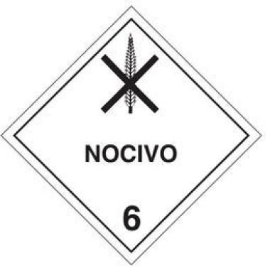 Placa De Simbologia De Risco - Nocivo 6
