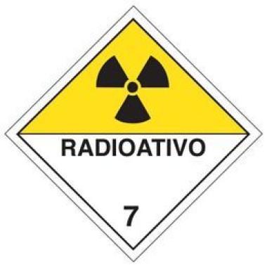 Placa De Simbologia De Risco - Radioativo 7