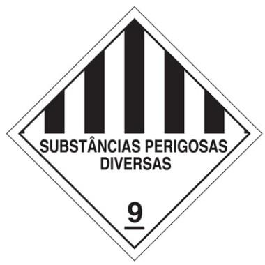 Placa substâncias perigosas diversas 9