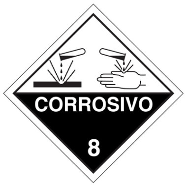 Placa corrosivo 8