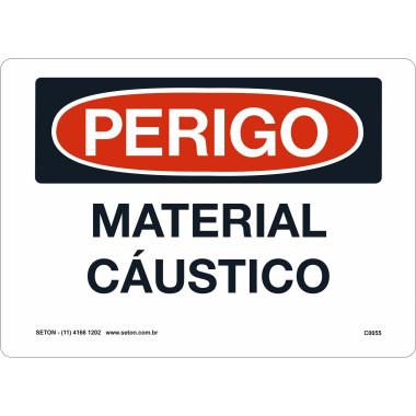 Placa de Sinalização de Perigo | Material Cáustico