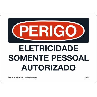 Placa de Sinalização de Perigo | Eletricidade Somente Pessoal Autorizado