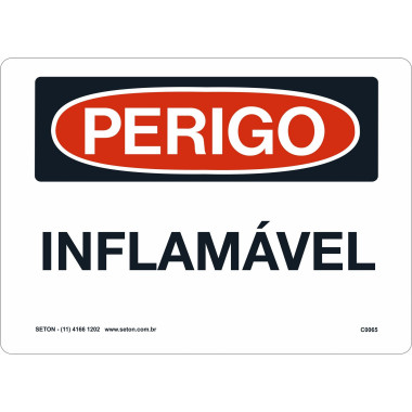 Placa inflamável