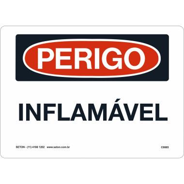 Placa De Perigo - Inflamável