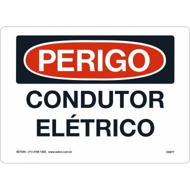 Placa de Sinalização de Perigo | Condutor Elétrico