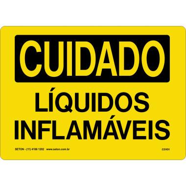 Placa de Cuidado | Líquidos Inflamáveis