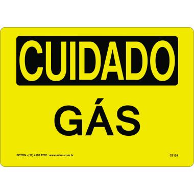 Placa Cuidado Gás