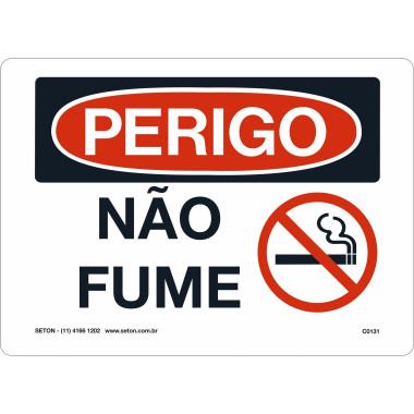 Placa De Perigo - Não Fume
