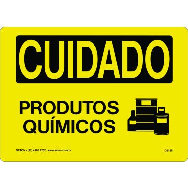 Placa de Cuidado | Produtos Químicos