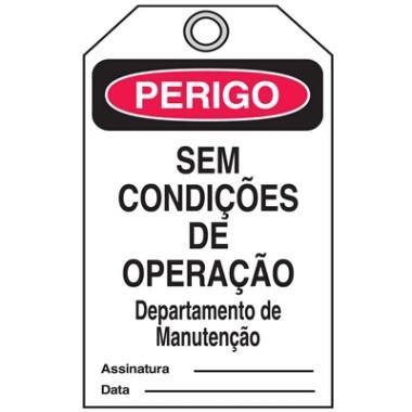 Cartão Travamento | Perigo Sem Condições de Operação
