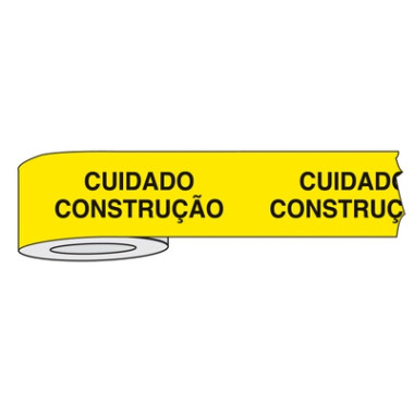 Fita para Isolamento de Área com Impressão   Cuidado Construção