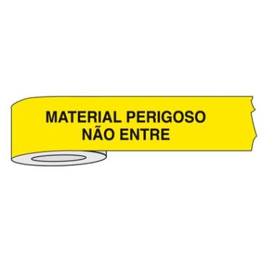 Fita para isolamento de área material perigoso não entre