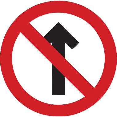 Placa de Sinalização de Trânsito | Sentido Proibido