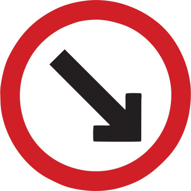 Placa passagem obrigatória