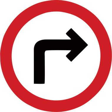 Placa de Sinalização de Trânsito | Seta Para a Direita