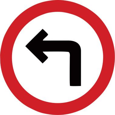 Placa seta para a esquerda