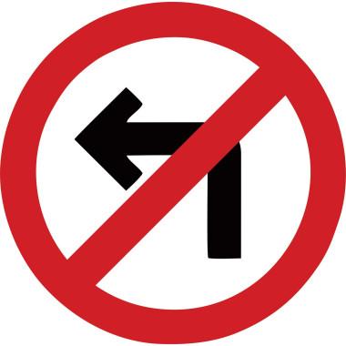 Placa de Sinalização de Trânsito | Proibido Virar à Esquerda