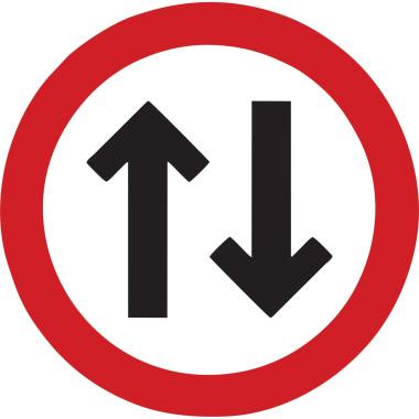 Placa de Sinalização de Trânsito | Mão Dupla