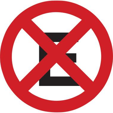 Placa de Sinalização de Trânsito | Proibido Parar e Estacionar