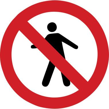 Placa de Sinalização de Trânsito | Proibido Passagem de Pedestres