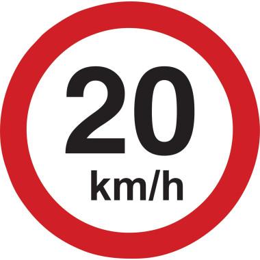 Placa de Sinalização de Trânsito | 20km/h