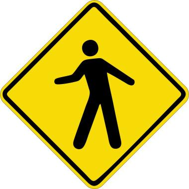 Placa de Sinalização de Trânsito | Passagem de Pedestres