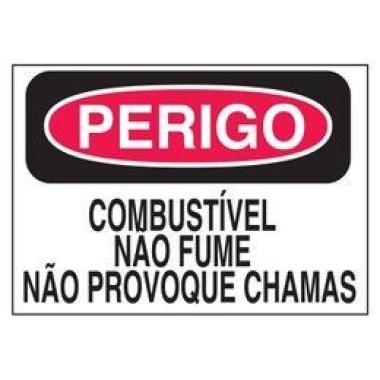 Etiqueta de Perigo - Combustível Não Fume Não Provoque Chamas