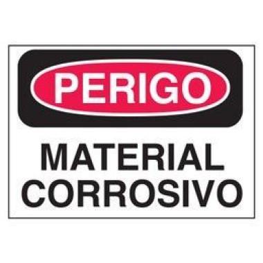 Etiqueta de Perigo - Material Corrosivo