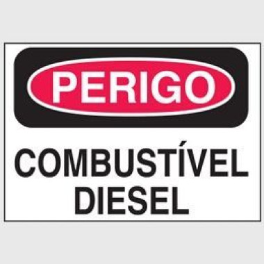 Etiqueta de Perigo - Combustível Diesel