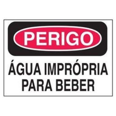Etiqueta de Perigo - Água Imprópria Para Beber