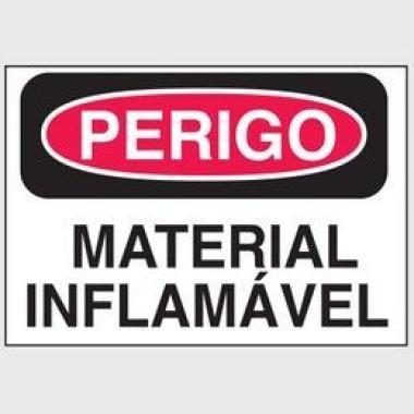 Etiqueta de Perigo - Material Inflamável