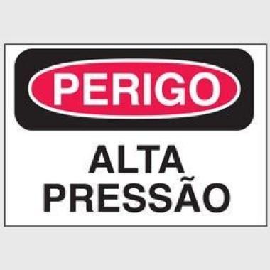 Etiqueta de Perigo - Alta Pressão